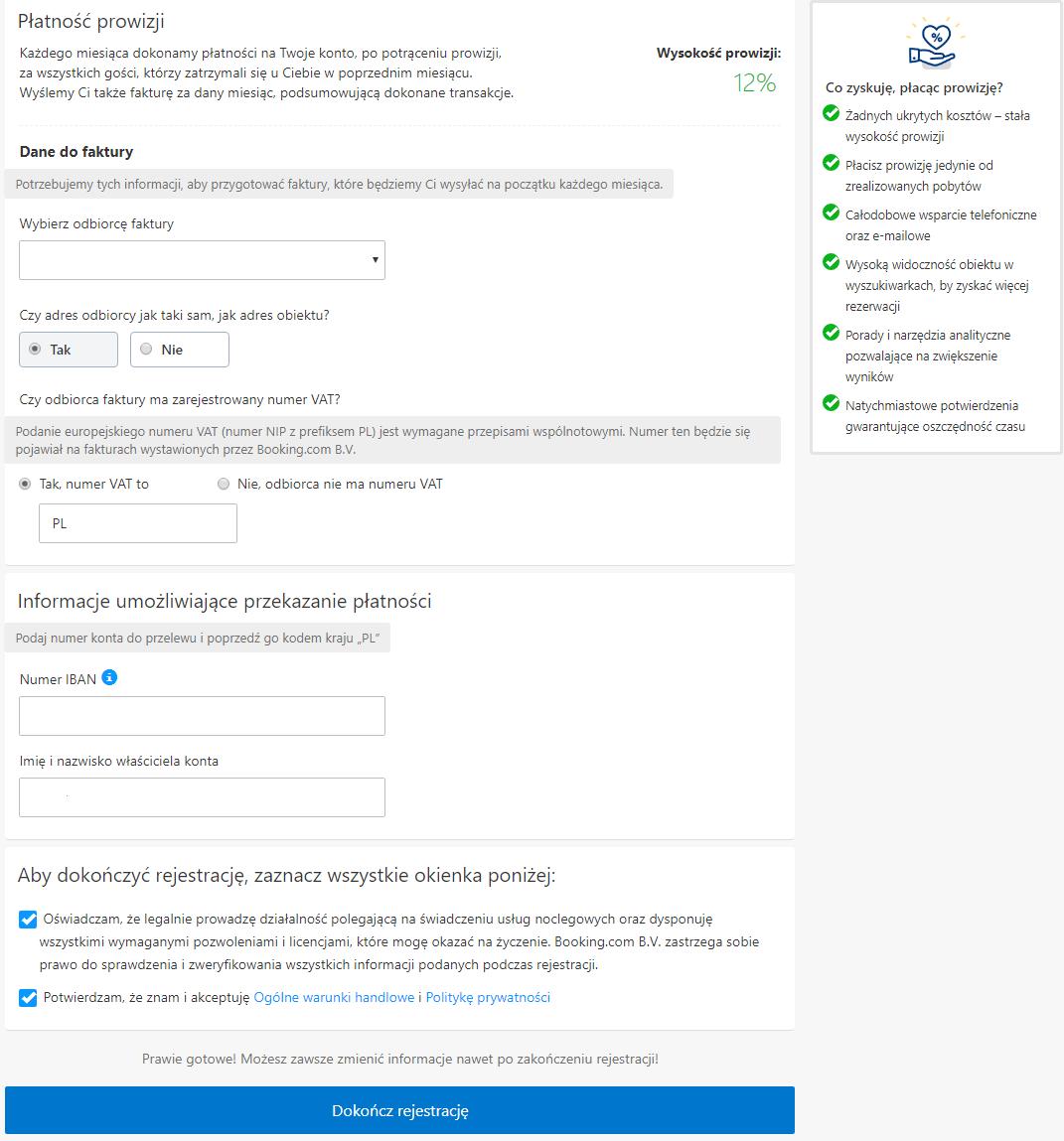 płatności nabookingu 2