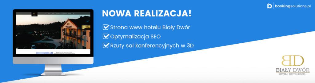 Strona www hotelu Biały Dwór – Nasza nowa realizacja! - miniatura