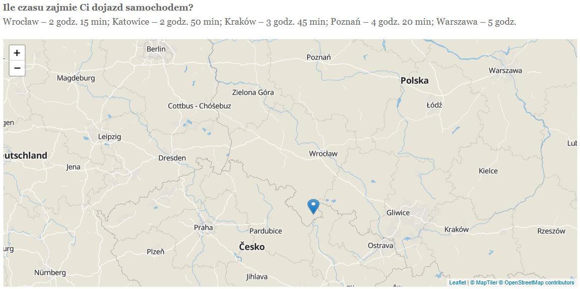 mapa zlokalizacją hotelu