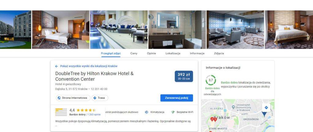 wizytówka obiektu w hotel search