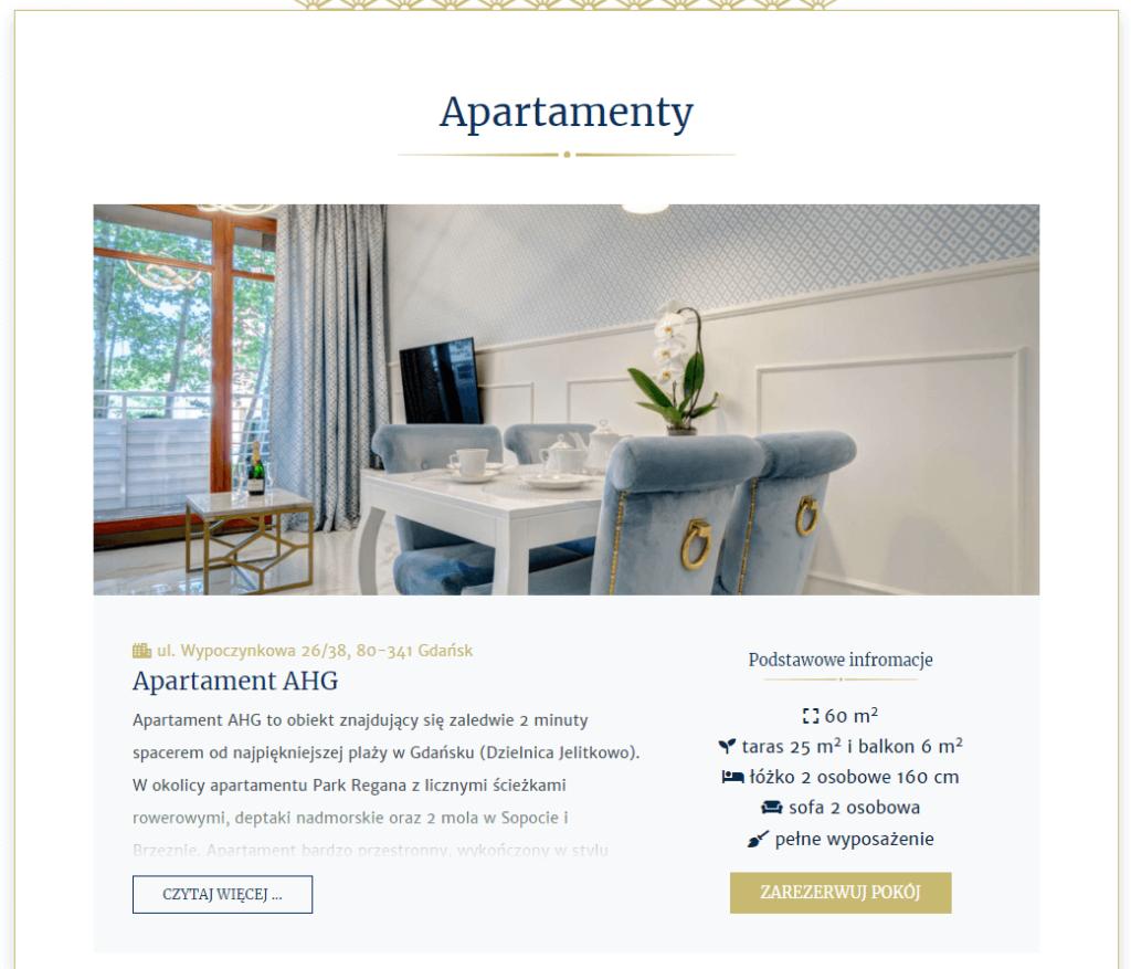 apartamenty angels w gdańsku widok szczegółowy