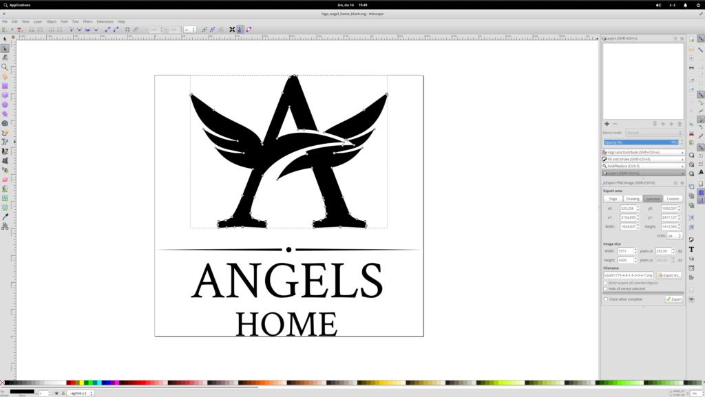 logo marki angels proces tworzenia