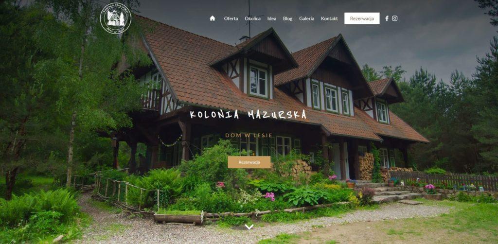 kolonia mazurska nowa strona internetowa
