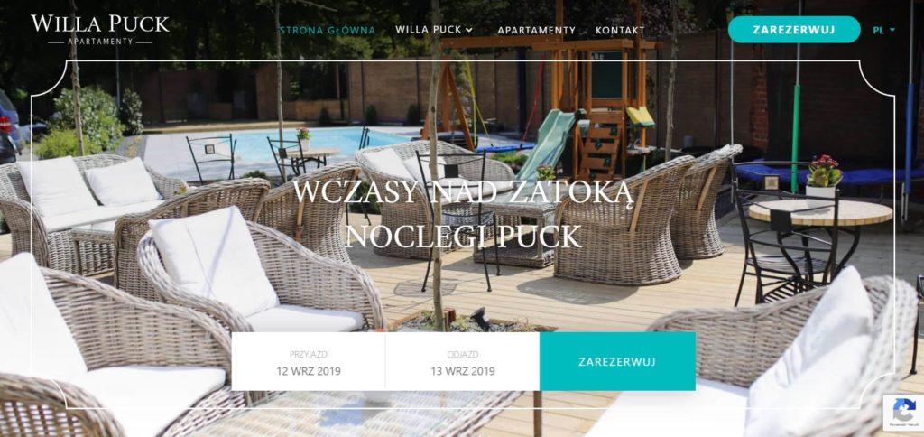 strony internetowe dla hoteli willa puck