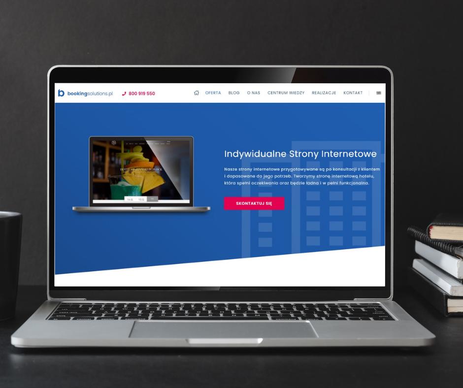 Strona internetowa do otwarcia hotelu