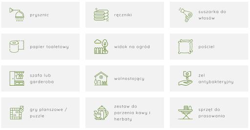 Dobrze przedstawione udogodnienia w obiekcie na stronie internetowej