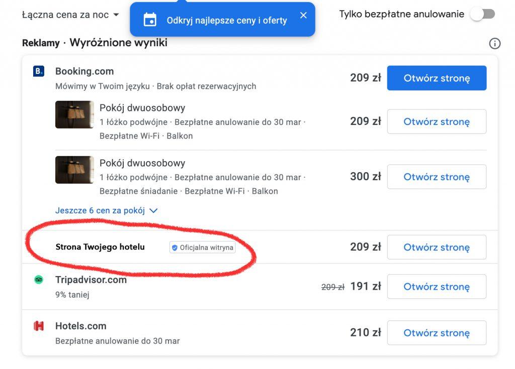 Google Hotel Free Links - nareszcie Twoje miejsce na bezpłatną reklamę w Wizytówce i na Mapach Google! 1