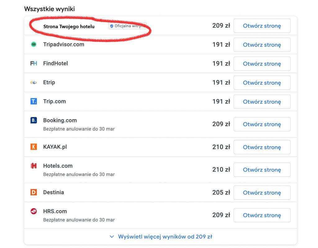 Google Hotel Free Links - nareszcie Twoje miejsce na bezpłatną reklamę w Wizytówce i na Mapach Google! 2